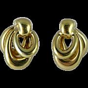 Estate 14K Yellow Gold Triple Hoop Earrings