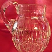 Vintage Clear Cut Glass Pitcher