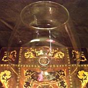 Clear Glass Large Brandy Stem
