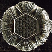 Vintage Clear Pressed Glass Candy Condiment Dish