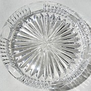 Vintage Clear Pressed Glass Coaster