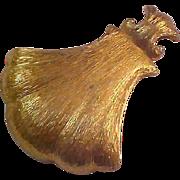 MONET~Textured Gold Plate Modernist Pendant