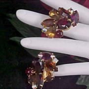 PHENOMENAL Vried Colors & Shapes~ RhinestonesClip Earrings