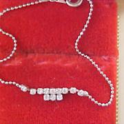 Very Dainty Diamante & Silver Plate Bracelet