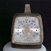 SALE Vintage Old 1947 OVEN THERMOMETER  ~Temperature Oven Monitor  Control