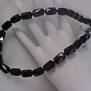 SALE 71.7 gram HeaVy Genuine Black CRYSTAL CHOKER/NECKLACE ~ Extender Black Crystals