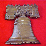 SALE Brass Like Cast LIBERTY BELL ~ Signed & Numbered Wall Plaque