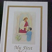 SALE Boy's FIRST COMMUNION Prayer Book Jesus Distributing Communion
