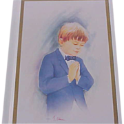 SALE Boy's FIRST COMMUNION & Mass Prayer Book  ~  New/Old Stock Beautiful pictures