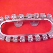 SALE ART DECO CIRCA 1930's Diamante Prong Set Purse - Evening Bag Clip