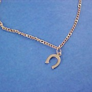 SALE AVON - Gilt Gold HORSESHOE Charm Bracelet