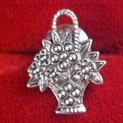 SALE AVON - Marcasite  Flower Basket Brooch/Pin