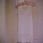 Vanity Fair 1950's White Nylon Whole Slip - Size 38-Vintage