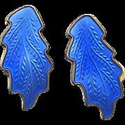 Vintage Sterling Enamel Norway Earrings by KAR Karl A Rasmussen