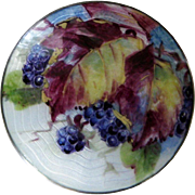 Vintage Sterling Enamel Norway Aksel Holmsen Custom Hand-Painted Brooch Pin Blackberries Autum