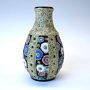 Amphora Art Deco enameled pottery vase