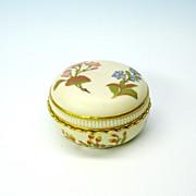 Antique Royal Worcester covered dresser jar box
