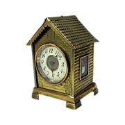 Great 19th Century novelty clock in the form of a house