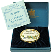 Vintage Halcyon Days patch box All things sweetened by risk