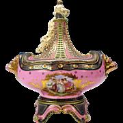 "Monumental Angelica Kauffman porcelain tureen Austria 17"""
