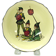 Rare Doulton series ware bowl-Pixies with Lanterns