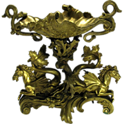 Grand Tour bronze centerpiece with Hippocampus Mer horses
