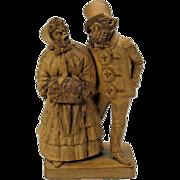 19th Century dressed monkey terracotta figure signed L Dubois-study for bronze