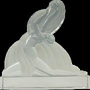 Art Deco Baccarat France glass Erte figure or statue