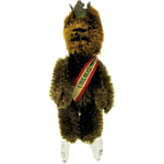 Sweet vintage Schuco Berlin Teddy bear made as a coat pin
