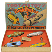 1937 Tootsie Toy BUCK ROGERS Rocket ships set in original box great condition