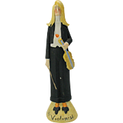 Rare Schafer Vater tall German bisque figure The VIOLINIST