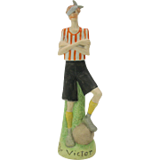 Rare Schafer Vater tall German bisque sporting figure The VICTOR-Soccer