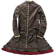 """SALE PENDING 1885 Victorian child's dress would fit a 36"""" doll"""