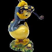 Vintage Walt Disney Productions Donald Duck GOLFING figure