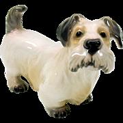 Vintage Dahl Jensen porcelain Sealyham or terrier puppy figure