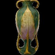 "Big Amphora high Art Nouveau pottery vase 12 1/4"" Arts & Crafts"