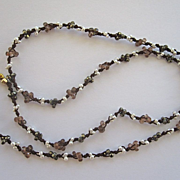 """Andalusite, seed pearl & Pyrite """"branches"""" necklace~ 2015"""