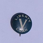 Liberty V Loan Blue & White Pinback Button