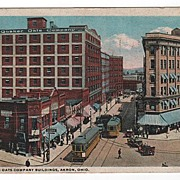 Quaker Oats Company Building Akron Ohio Postcard