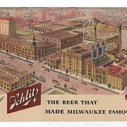 Schlitz The Beer That Made Milwaukee Famous WI Postcard