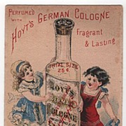 Hoyt's German Cologne Lowell MA Trade Card