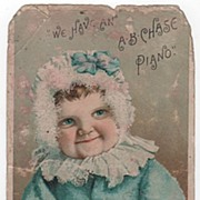 The A B Chase Piano Norwalk OH Ohio Trade Card