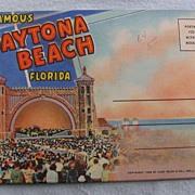 Souvenir Folder linen Daytona Beach Florida