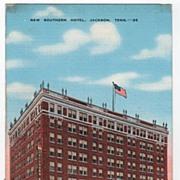 New Southern Hotel Jackson Tennessee TN Postcard