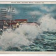 Rough Surf Daytona Beach Florida FL Postcard