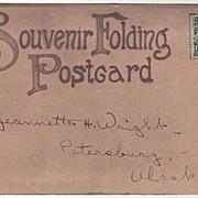 Alaska Souvenir Folder Copyrighted W. H. Chase 1908