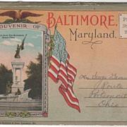 SOLD Souvenir Folder of Baltimore Maryland