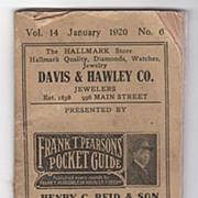 Frank T. Pearson's Pocket Guide 1920 Bridgeport Connecticut