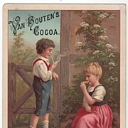 Van Houten's Pure Soluble Cocoa Weesp Holland Trade Card