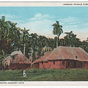 Landscape Country Huts Havana Cuba Postcard